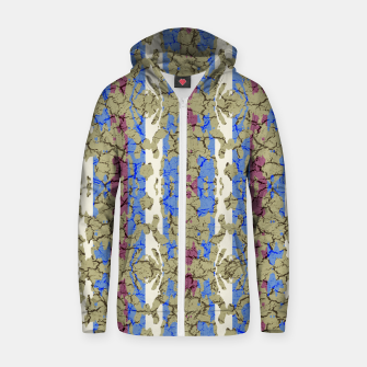 Thumbnail image of Ornament Striped Textured Colored Pattern Zip up hoodie, Live Heroes
