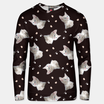 Miniatur Cats and paws Unisex sweater, Live Heroes