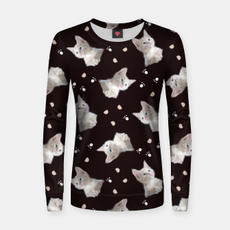 Thumbnail image of Cats and paws Women sweater, Live Heroes