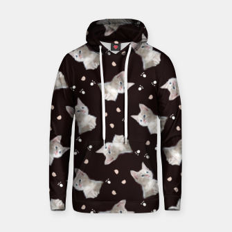Miniatur Cats and paws Hoodie, Live Heroes