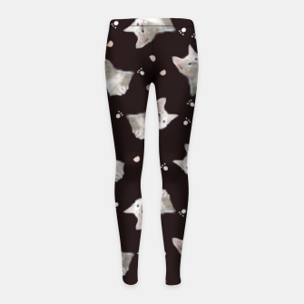 Miniaturka Cats and paws Girl's leggings, Live Heroes