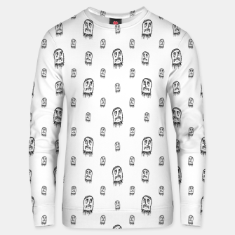 Thumbnail image of Sketchy Monster Pencil Drawing Motif Pattern Unisex sweater, Live Heroes
