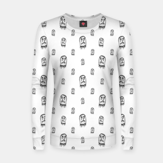 Thumbnail image of Sketchy Monster Pencil Drawing Motif Pattern Women sweater, Live Heroes