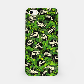 Thumbnail image of Paleontology Dinosaur Lover Fossil Dino Skull Jungle Pattern iPhone Case, Live Heroes