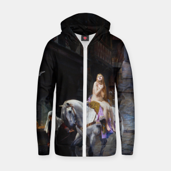 Thumbnail image of Lady Godiva by Jules Joseph Lefebvre Zip up hoodie, Live Heroes