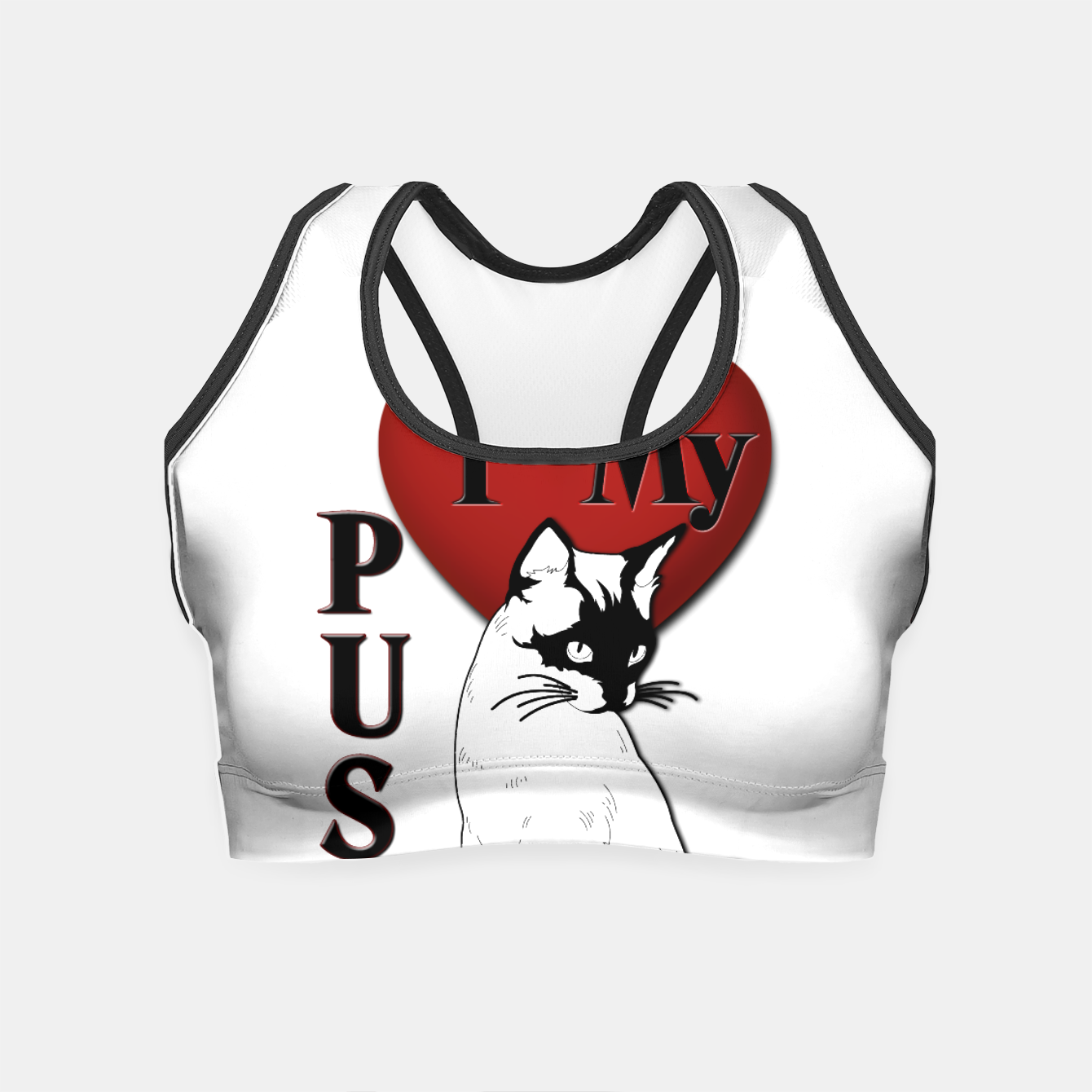 Image of I Love My Pussy Cat Crop Top - Live Heroes