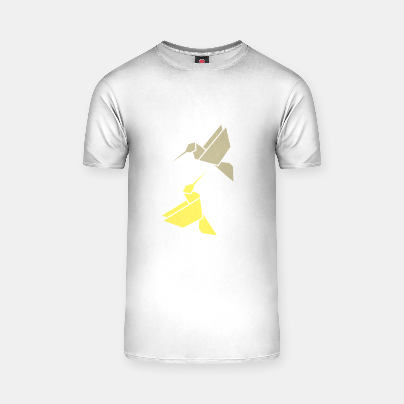 Image of Origami hummingbirds, animal print, birds print, spring print, love is in the air T-shirt - Live Heroes