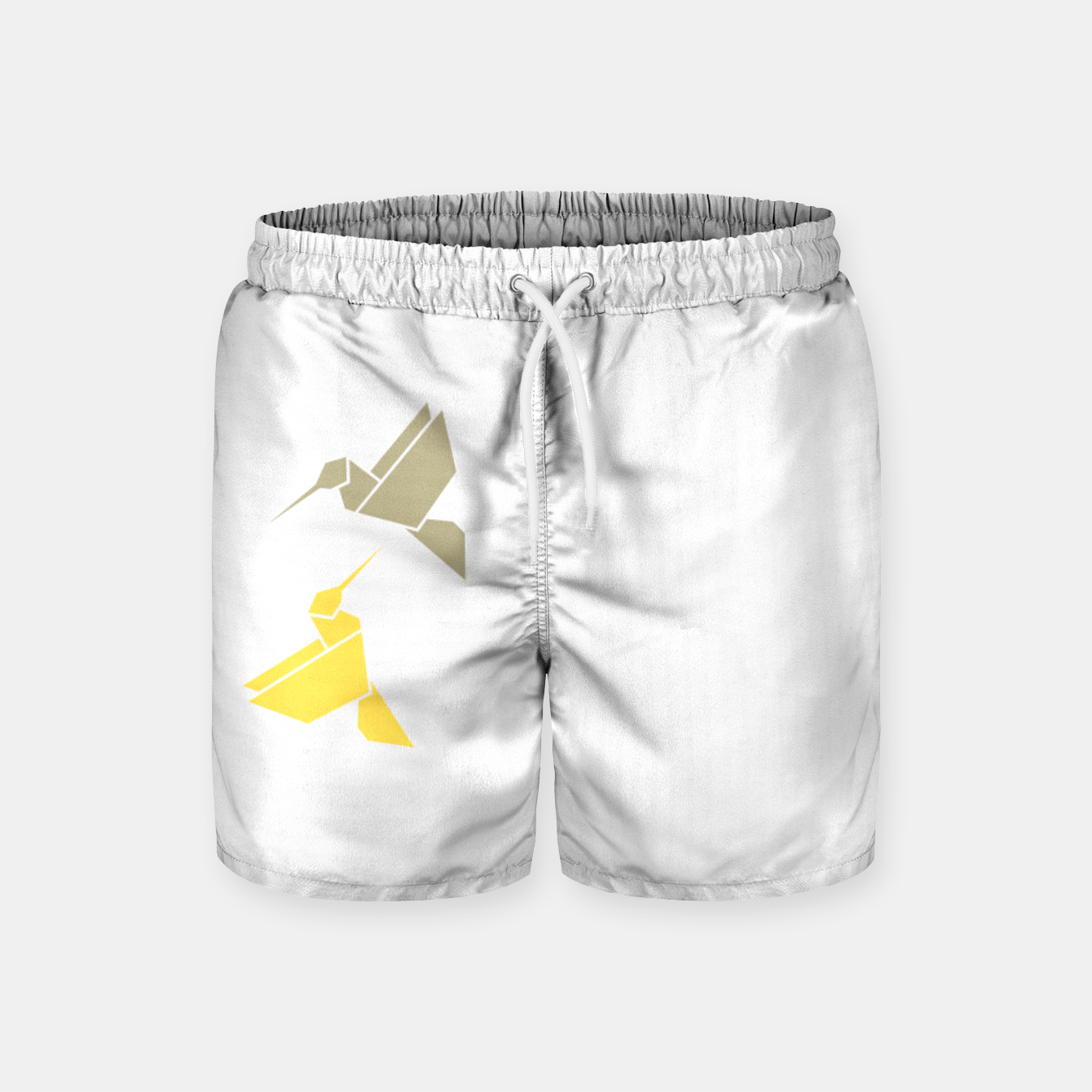 Image of Origami hummingbirds, animal print, birds print, spring print, love is in the air Swim Shorts - Live Heroes