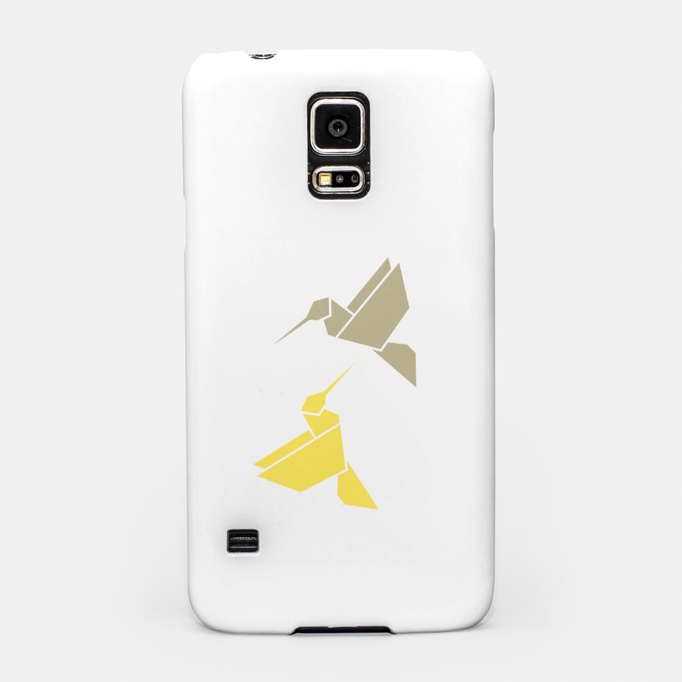 Image of Origami hummingbirds, animal print, birds print, spring print, love is in the air Samsung Case - Live Heroes