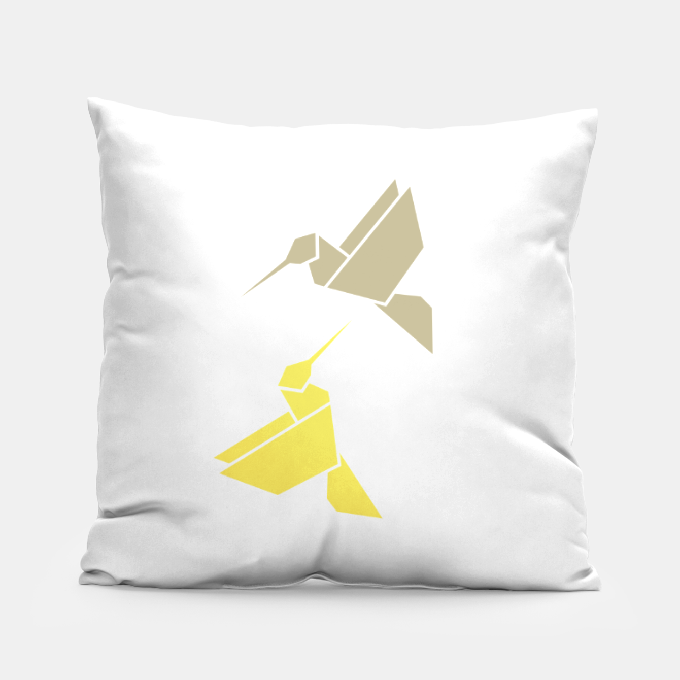 Image of Origami hummingbirds, animal print, birds print, spring print, love is in the air Pillow - Live Heroes