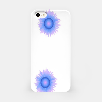 Thumbnail image of Blue flowers on white iPhone Case, Live Heroes