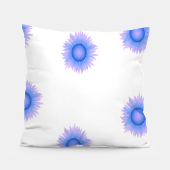 Thumbnail image of Blue flowers on white Pillow, Live Heroes