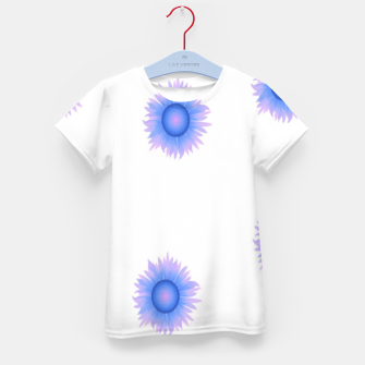 Thumbnail image of Blue flowers on white Kid's t-shirt, Live Heroes