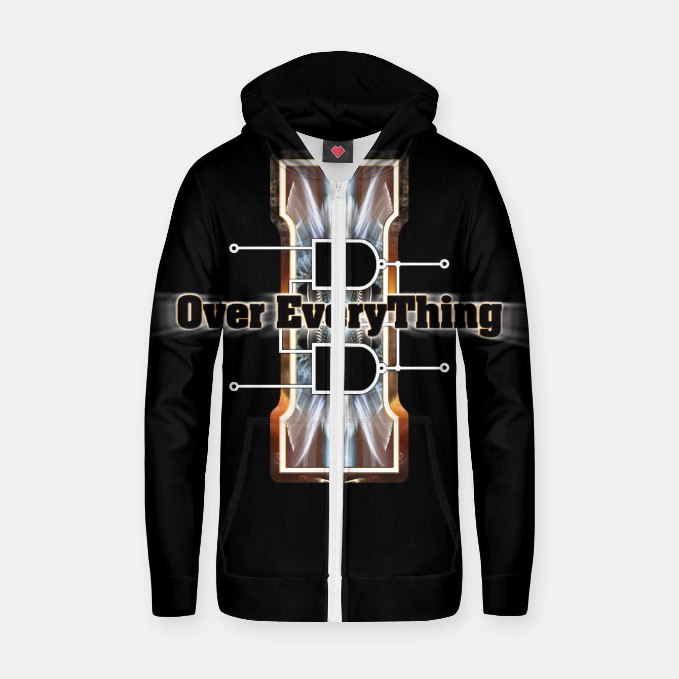 Image of I Flip-Flop Over Everything Boolean Circuit Zip up hoodie - Live Heroes