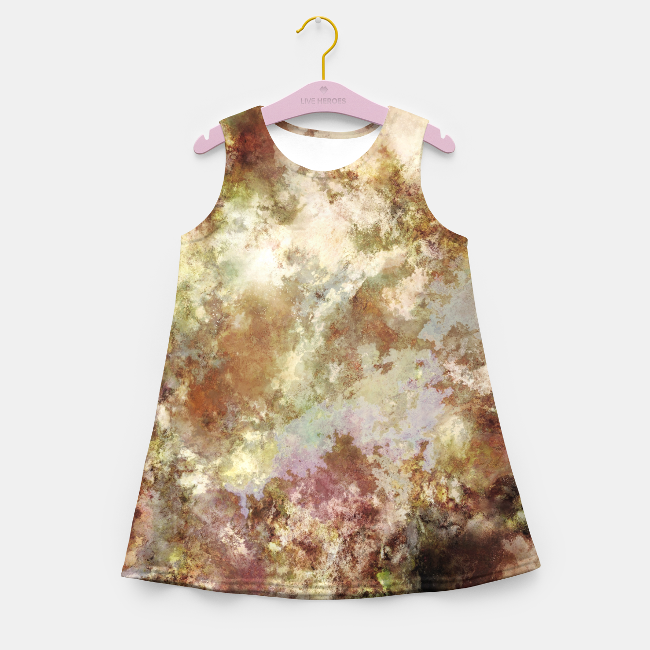 Image of Crumbling wall Girl's summer dress - Live Heroes
