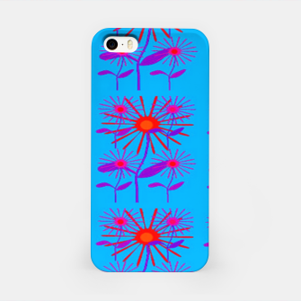 Miniatur Floral on blue iPhone Case, Live Heroes