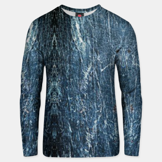 Thumbnail image of Abstract denim print Unisex sweater, Live Heroes