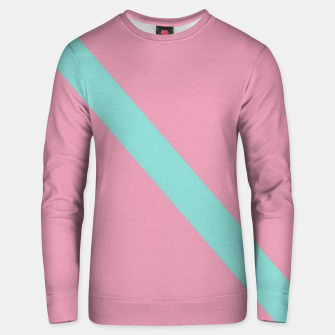 Thumbnail image of Blue stripe on pink Unisex sweater, Live Heroes