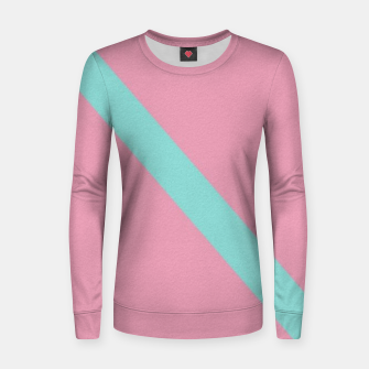 Thumbnail image of Blue stripe on pink Women sweater, Live Heroes