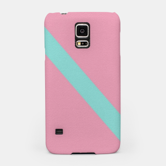 Thumbnail image of Blue stripe on pink Samsung Case, Live Heroes