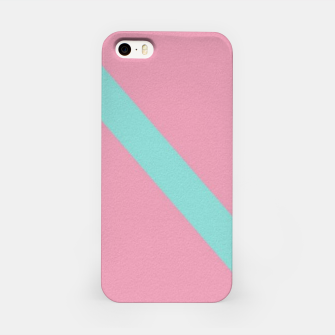 Thumbnail image of Blue stripe on pink iPhone Case, Live Heroes