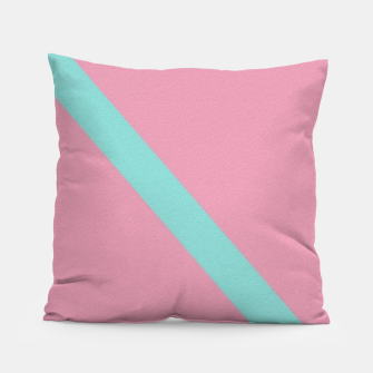 Thumbnail image of Blue stripe on pink Pillow, Live Heroes