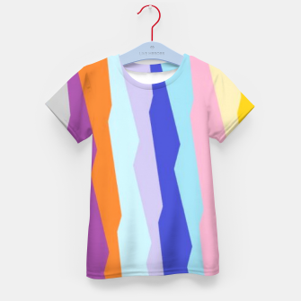 Thumbnail image of Stripy colors Kid's t-shirt, Live Heroes