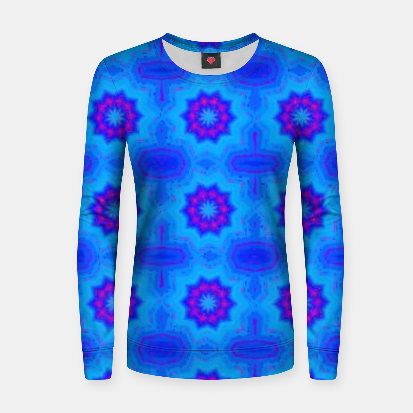 Image of Blue decorative pattern Women sweater - Live Heroes