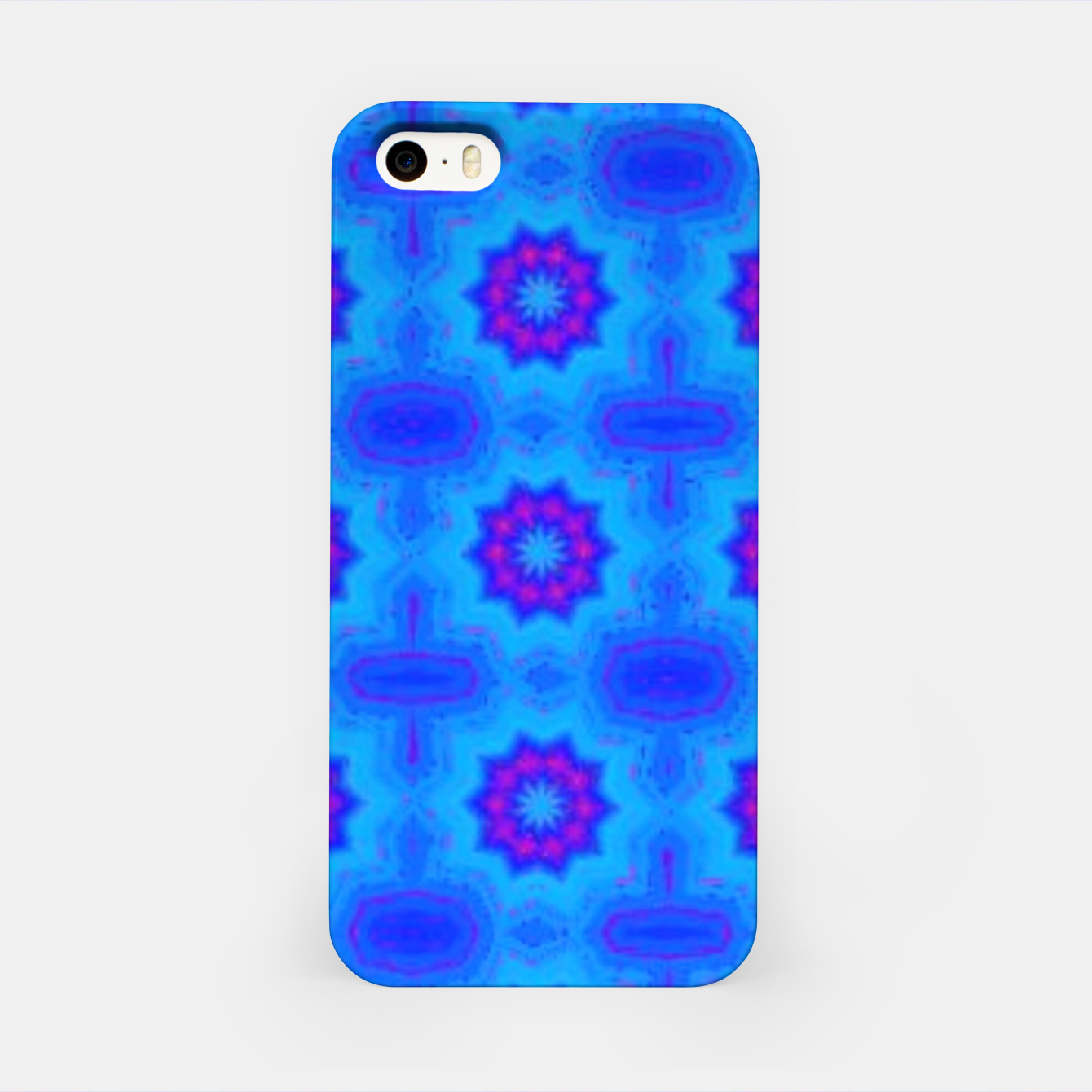 Image of Blue decorative pattern iPhone Case - Live Heroes