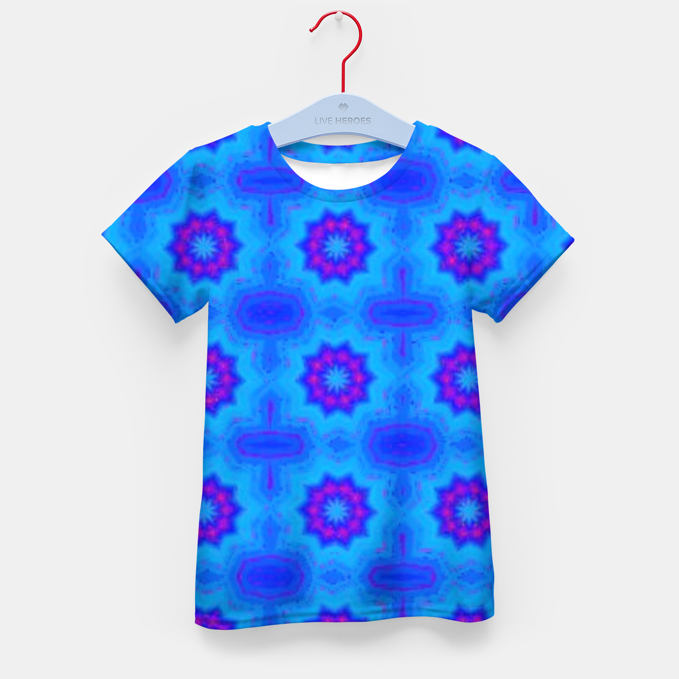 Image of Blue decorative pattern Kid's t-shirt - Live Heroes