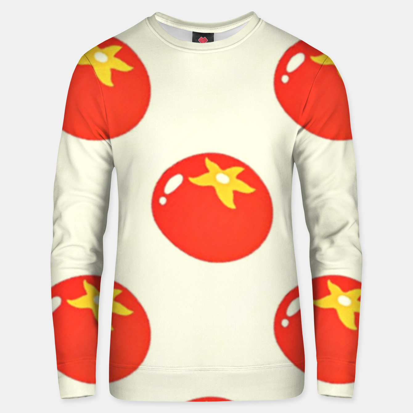 Image of Red tomatoes pattern Unisex sweater - Live Heroes