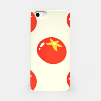 Red tomatoes pattern iPhone Case thumbnail image