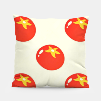 Red tomatoes pattern Pillow thumbnail image