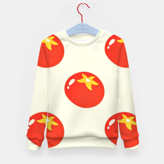 Red tomatoes pattern Kid's sweater thumbnail image