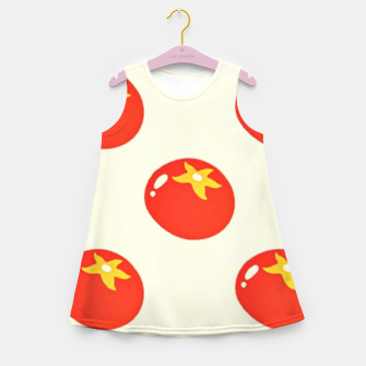 Red tomatoes pattern Girl's summer dress thumbnail image