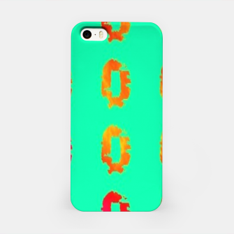 Thumbnail image of Gradient zero on turquoise iPhone Case, Live Heroes