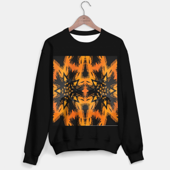 Thumbnail image of Abstract orange and black print Sweater regular, Live Heroes