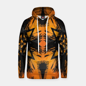Thumbnail image of Abstract orange and black print Hoodie, Live Heroes