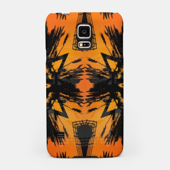 Thumbnail image of Abstract orange and black print Samsung Case, Live Heroes