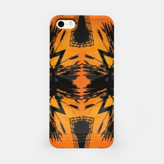Thumbnail image of Abstract orange and black print iPhone Case, Live Heroes