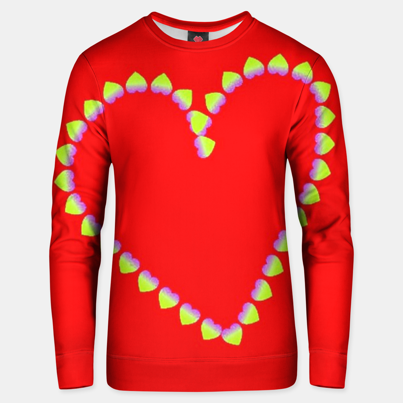 Image of Hearts in heart Unisex sweater - Live Heroes