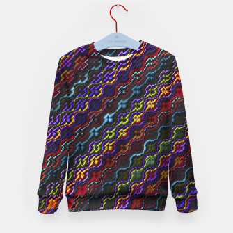 Thumbnail image of Dark Multicolored Mosaic Design Pattern Kid's sweater, Live Heroes