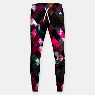 Thumbnail image of pink geometric pixel square pattern abstract art background Sweatpants, Live Heroes
