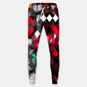 Thumbnail image of red geometric pixel square pattern abstract art background Sweatpants, Live Heroes