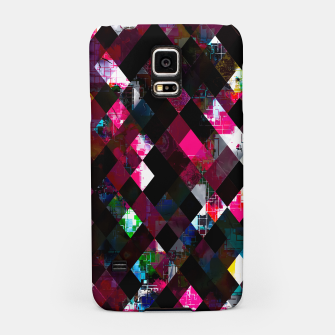 Thumbnail image of pink geometric pixel square pattern abstract art background Samsung Case, Live Heroes