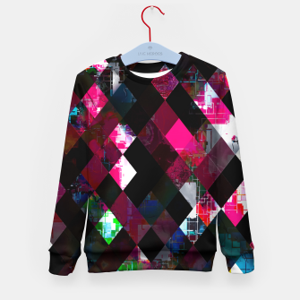 Thumbnail image of pink geometric pixel square pattern abstract art background Kid's sweater, Live Heroes