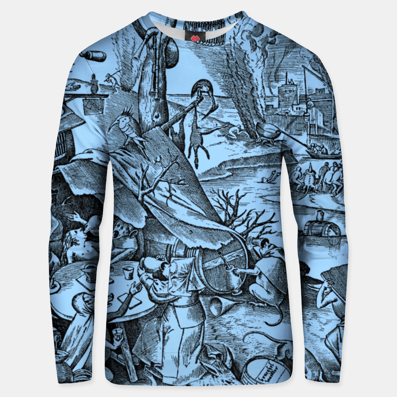 Image of Brueghel-The Seven Virtues (Gluttony) Unisex sweater - Live Heroes