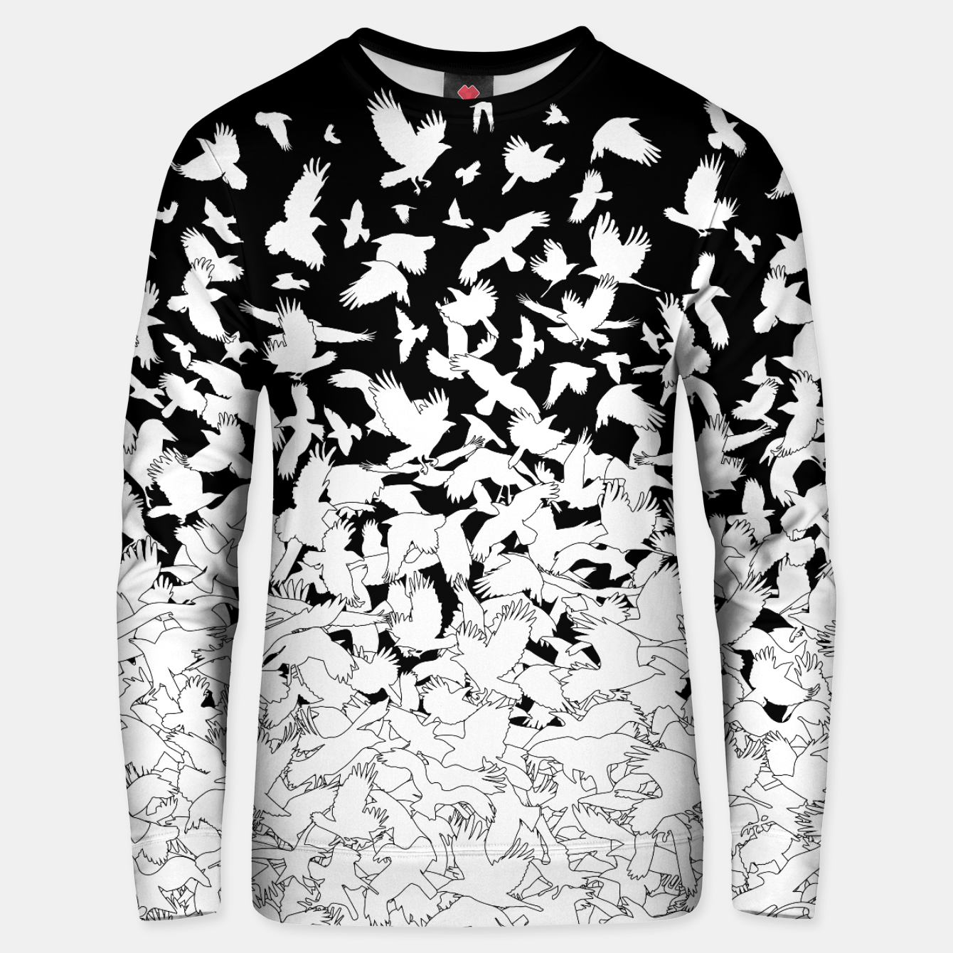 Image of Dove Flying Birds Abstract Love Peace Hope Pattern Unisex sweater - Live Heroes