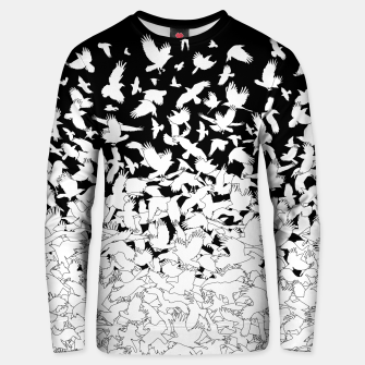 Miniatur Dove Flying Birds Abstract Love Peace Hope Pattern Unisex sweater, Live Heroes