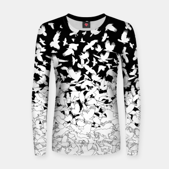 Dove Flying Birds Abstract Love Peace Hope Pattern Women sweater thumbnail image